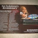 Pioneer Laserdisc Ad from 1987 CLD-909, 2 pages