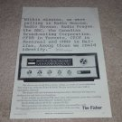 Fisher R-200-B World tuner Ad,Rare! 1966, Solid State!