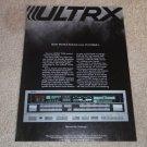 ULTRX R100 Receiver Ad, 1984, Article, Rare Ad
