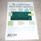 Adcom GFA-5800 Amp Ad from 1996,Perfect!