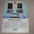 JVC System Ad, 1983, Ribbon Speaker,Receiver,Article