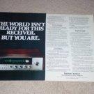 Harman Kardon 75+ Receiver Ad, 1972, 2 pgs, Article