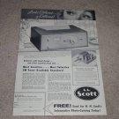 Scott 310-B Tuner AD, 1957,Article, Info, Beautiful!