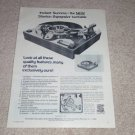 Stanton Gyroscopic Turntable Ad, 1975, Specs, Article