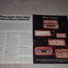 Phase Linear 700b,400,4000,200 Amplifier Ad,1976,2 pgs