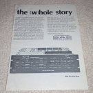 SAE 2922 Preamp/Equalizer Ad,1978,Rare Ad! Article,3022