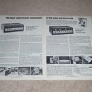 Heathkit Aj-1510 Tuner Ad, 1972,AA-2004 Amp,Specs, 2 pg