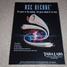 Tara Labs RSC Decade Interconnect  Ad, 1995, Frame it!