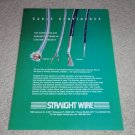 Straight Wire Maestro II,Virtuoso Ad, 1995, Article