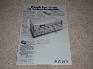 Sony ST-J60,TA-F40 Amp, Tuner Ad, 1978, Article,Specs