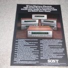Sony STR-7065a Receiver Ad, 1975, color, specs