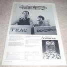 Dokorder7100 Open Reel Ad from 1975