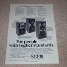 KEF Carlton,Coda,Carina Speaker Ad, 1983,Specs,1 page