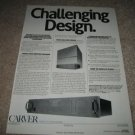Carver M-1.0t Amp Ad from 1986,Stereophile Challenge!