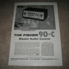 The Fisher 90-C Audio Control Amp Ad from 1958