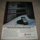 KYOCERA System Ad from 1987,Cassette,CD,Receiver 1987
