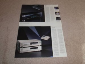 Philips 8 pg Brochure,LHH-1000 CD, CD960, CDV 488,Info