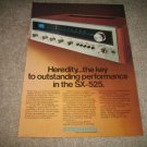 Pioneer SX-525 Receiver Ad from 1975