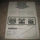 Revox A77,36,A700 Ad from 1975