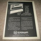 Crown DL-2 Preamp,DL-2 Amp Ad from 1978,RARE!