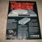 Fisher MT6360 Computer Turntable Ad from 1981,remote!