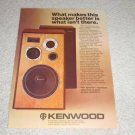 Kenwood LS-408b Speaker Ad, 1978, Article,color, Nice!