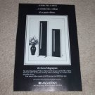 Magnepan Magneplanar MG1.5/QR,MG.5/QR Speaker Ad, 1992