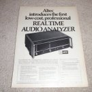 Altec Audio Analyzer Ad from 1975 8050a, SUPER RARE!