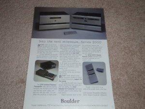 Boulder Series 2000 Ad, 1997, 2010 Preamp,2020 D/A 33k!