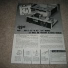 H.H. Scott LT-10 Kit Fm TUBE Tuner Ad from 1960