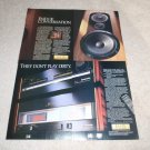 Pioneer Elite Ad,8 pgs, 1989,TZ-9 Speakers,PD91,M91,C91