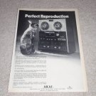 Akai QUAD 280D-SS Open Reel Ad,1972,Article, Nice Ad!