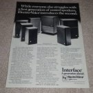 Electro-Voice Interface 1,2,3,D,c,A II, Speaker Ad,1977
