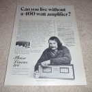 Phase Linear 400 Amp Ad from 1974, very RARE! Carver