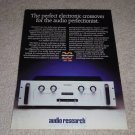 Audio Research EC22 X-over Ad,2 sided,1990,specs,inside
