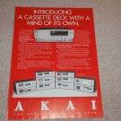 Akai GX-F95 Cassette Ad, 1979, Article, Specs, RARE!