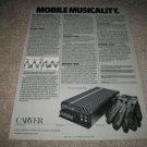 Carver Mobile Amp Ad from 1985 M-240,specs,article!