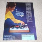 Weathers Townsend Turntable Ad,1964, Beautiful Color Ad