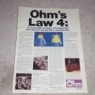 Ohm F Speaker Ad from 1978, color, article, very rare!