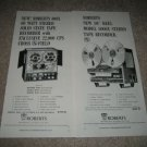 Roberts 5000x,400x Open-Reel Ads from 1966