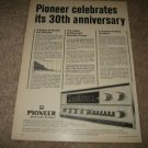 Pioneer SX-1500T Receiver Ad from 1968,30th Anniversary