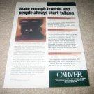 Carver LIGHTSTAR,TFM-35x,AV-806x Amp Ad from 1996,RARE!