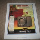 "Bob Carver Sunfire True Subwoofer Ad 1997 11"" x13"""