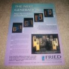 Fried R/5,A/5,Q/5,Beta V Speaker AD from 1994,mint!