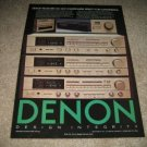 Denon Receiver AD from 1985,DRA-750,550,350