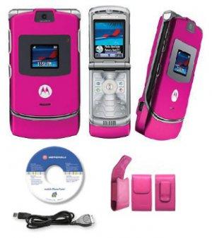 "Motorola ""Limited Edition"" Razr V3 Pink Slim Camera Phone (Unlocked) GSM"