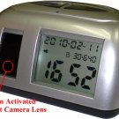Motion Detection Clock DVR Camera, Cycling Recording Battery Power Backup, Date Time Stamp