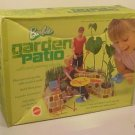 Vintage BARBIE GARDEN PATIO Play Set + Box (1972)