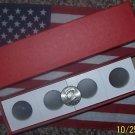 100 HALF-DOLLAR 2x2 COIN HOLDERS CARDBOARD FLIPS W/BOX