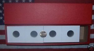NEW 100 QUARTER 2x2 COIN HOLDERS CARDBOARD FLIPS W/BOX